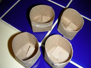 tolilet paper seed pots