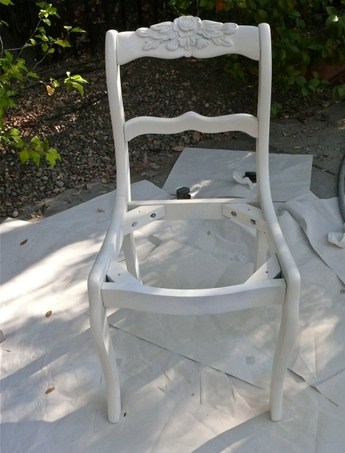 chair after priming