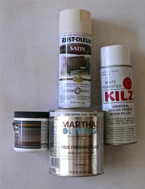 paint supplies for glazing furniture