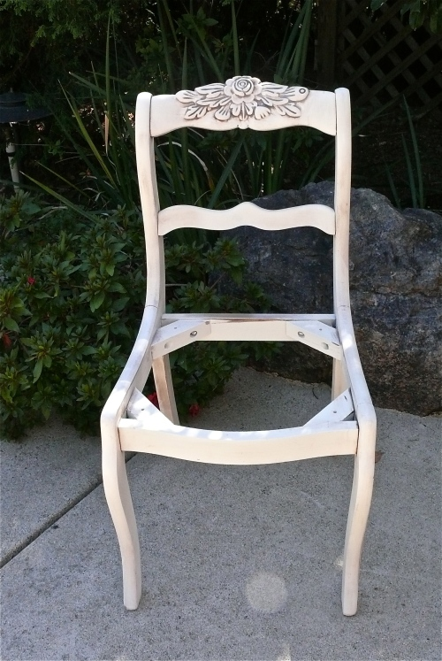 Chair after glazing
