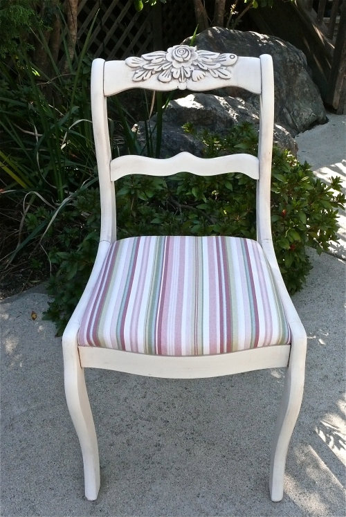 Completed glazed chair