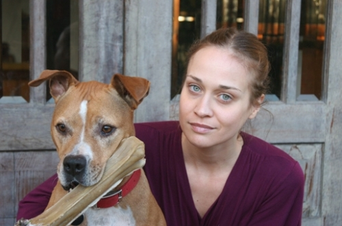 Fiona Apple and her dog Janet