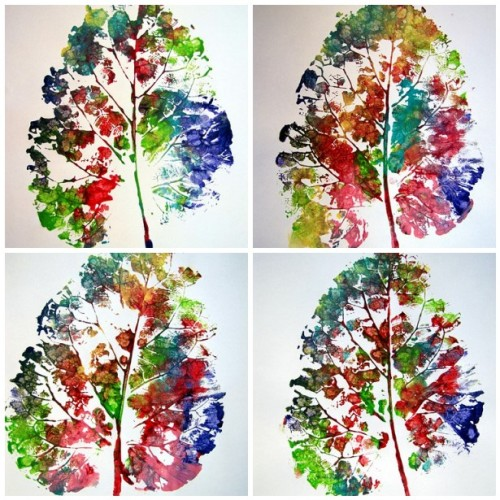 how to make leaf prints