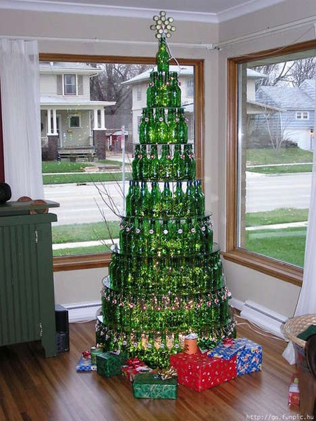 glass bottle Christmas Tree