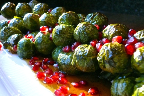 Roasting Brussels Sprouts on a Stalk