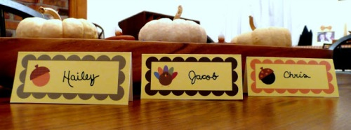 Small thanksgiving place cards