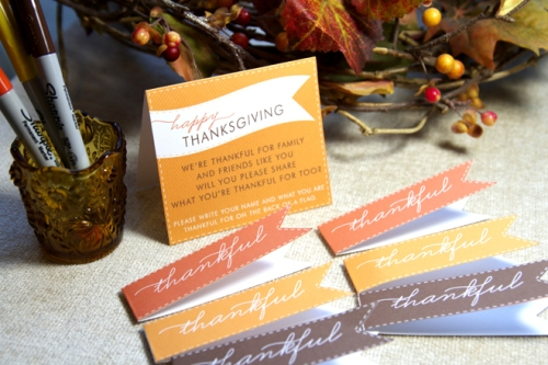 Thanksgiving Dessert Flags