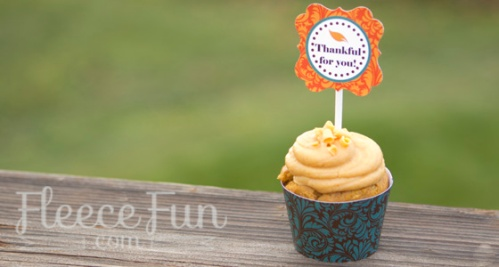 Thanksgiving free cupcake printables