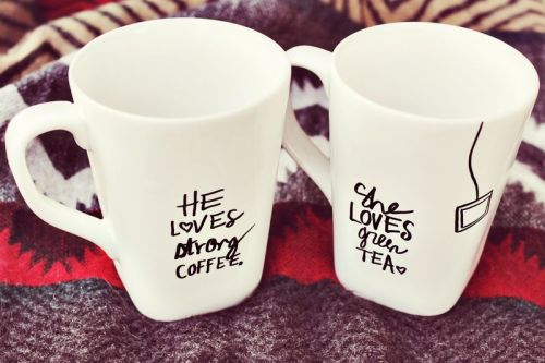 Sharpie decorated mugs