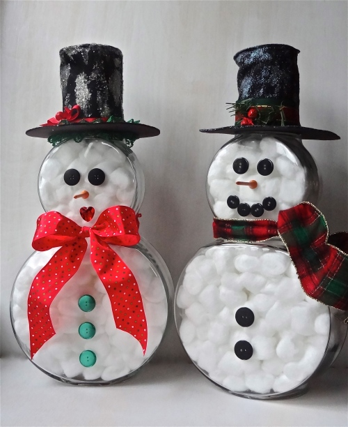 DIY Mr. and Mrs. Fishy Snowman
