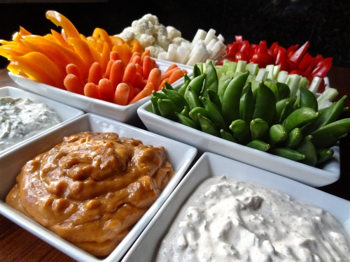 crudities  with dip