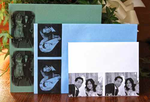 Three envelopes with photo transfers