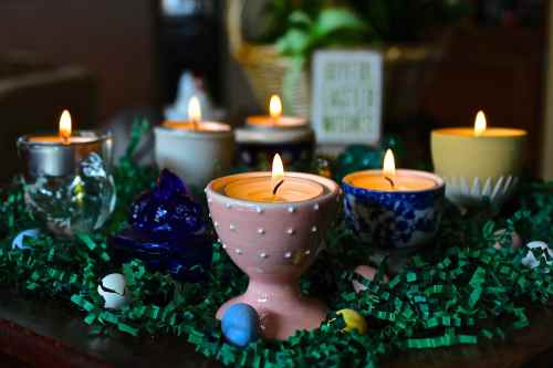 Egg Cup Candle Holders