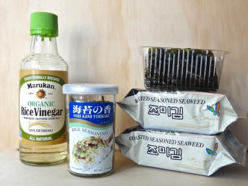 Partial Ingredients for Sushi Casserole