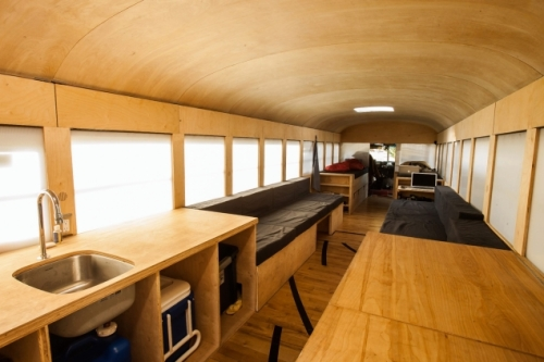 Old School Bus Transformed Into Mobile Home