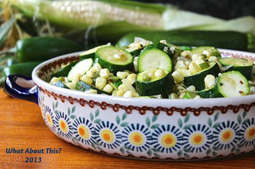 Zucchini with Corn and Green Chilies