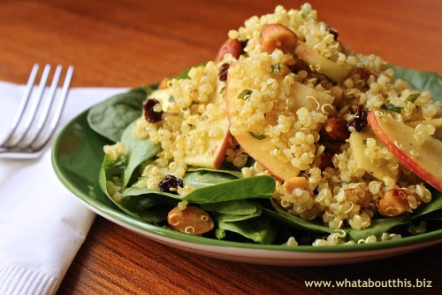 Quinoa and Apple Salad with Curry Dressing