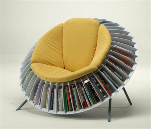 Chair and Bookshelf All In One