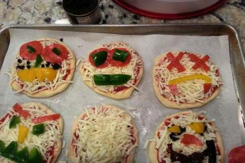 Monster Face Pizzas