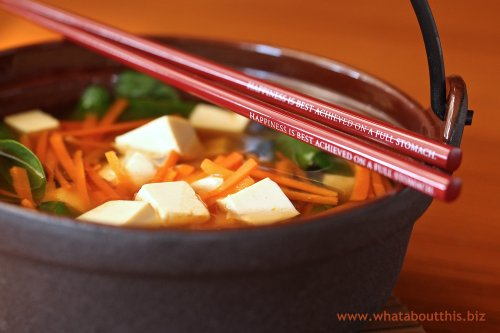 Hot and Sweet Vegetable and Tofu Soup