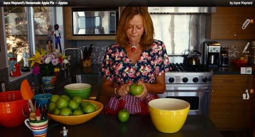 Joyce Maynard Pie-Making Lesson
