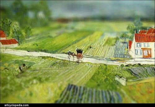 Tilt Shift Van Gogh Landscapes