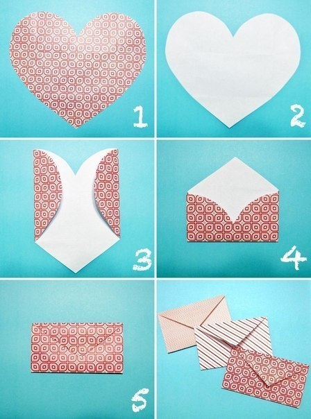 Make an Envelope From a Heart-shaped Piece of Paper
