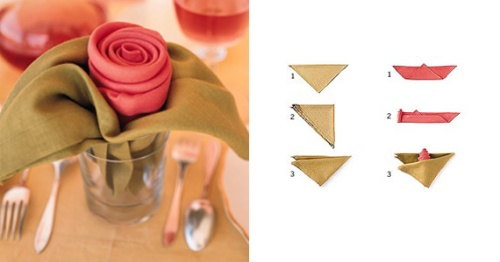 Making Napkin Roses