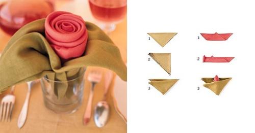 Making Napkin Roses