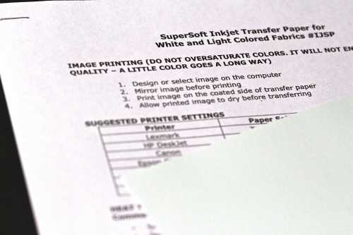 SuperSoft Inkjet Transfer Paper