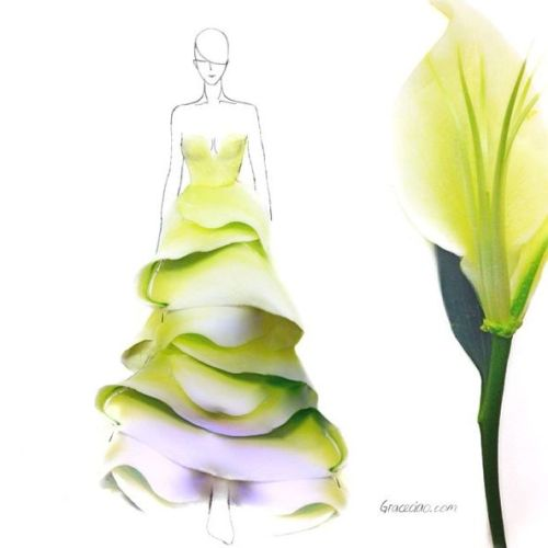 Fashion Designs Using Flower Petals