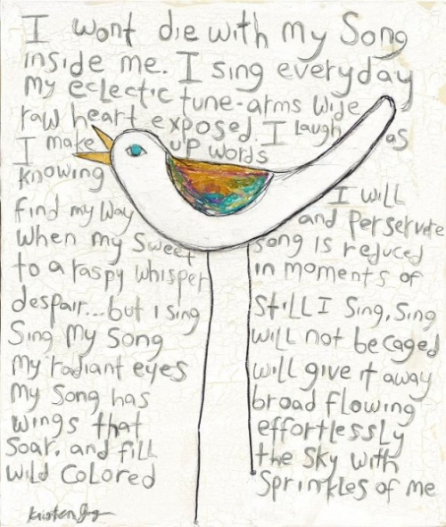 My Song by Kristen Jongen