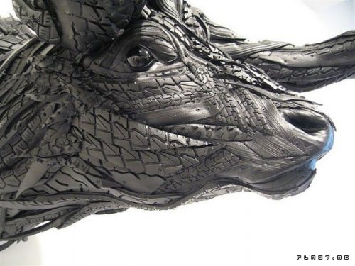 Incredible Sculptures Made From Tires
