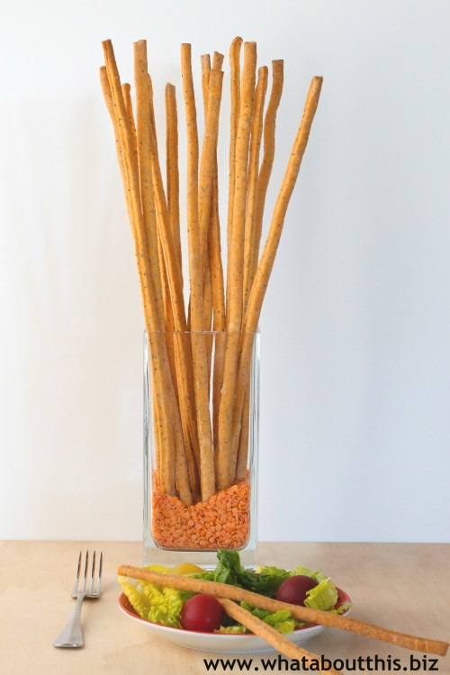 Cheddar and Poppy Seed Bread Sticks