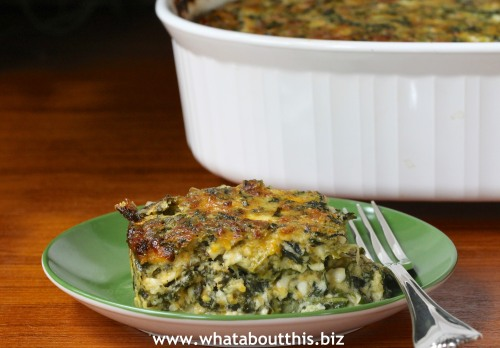 Krasnapolski: spinach and Cheese Casserole