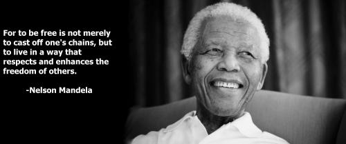 Nelso Mandela Freedom Quote