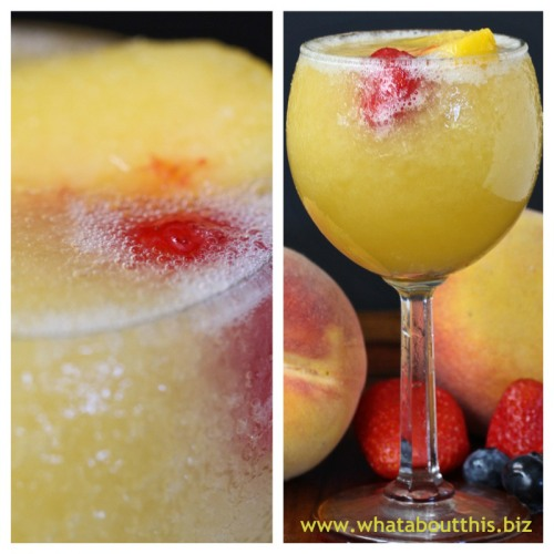 Peach and Moscato Wine Slushies