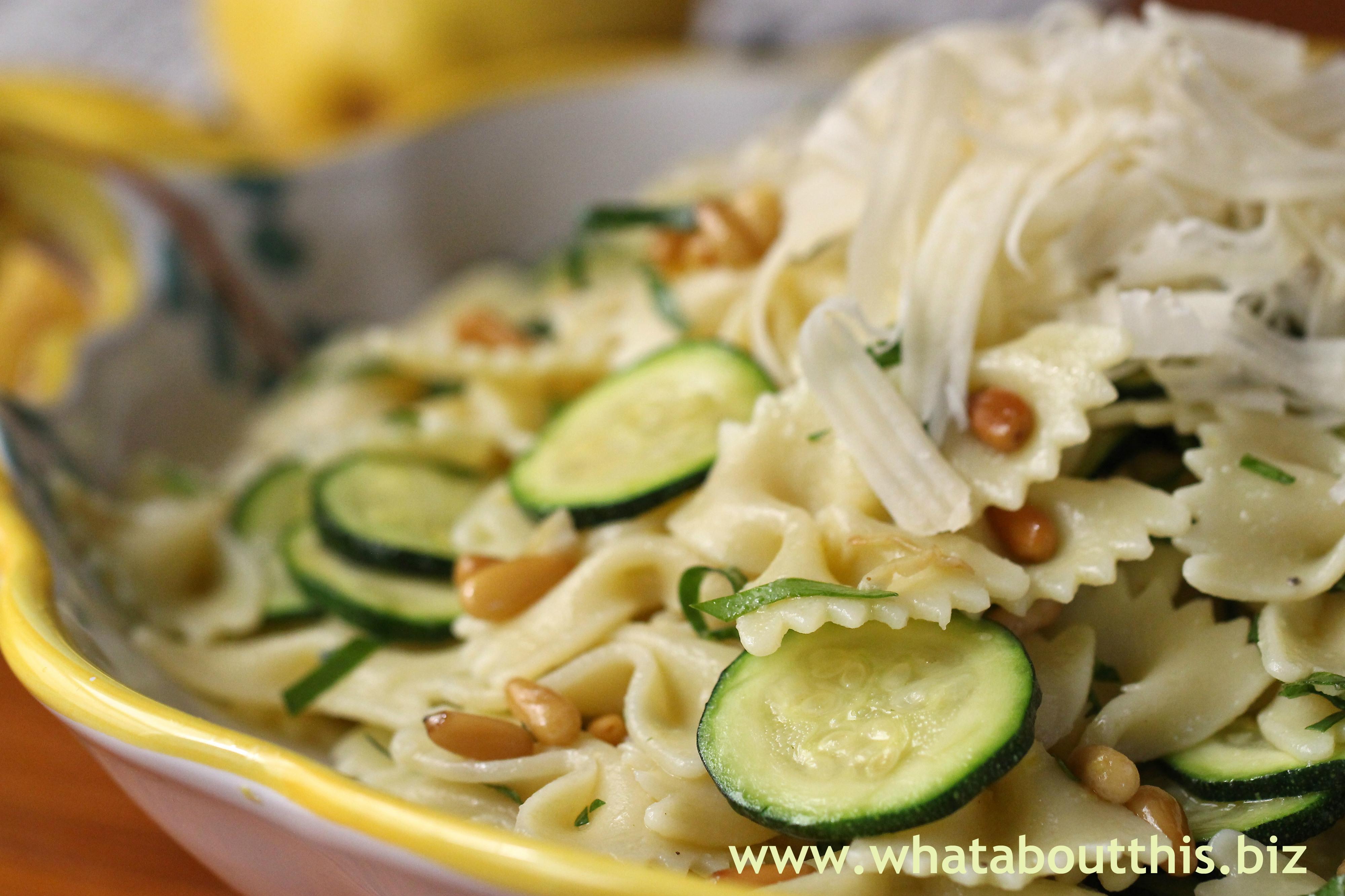 pasta salad 2014 zucchini and almond pasta salad recipes dishmaps ...