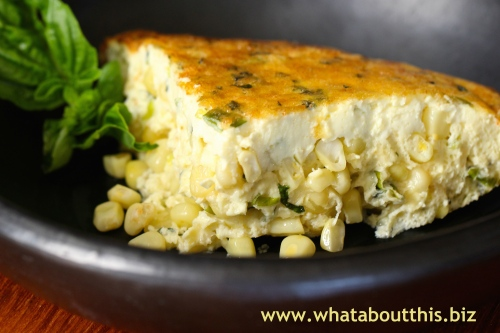 Basil-Corn Pudding