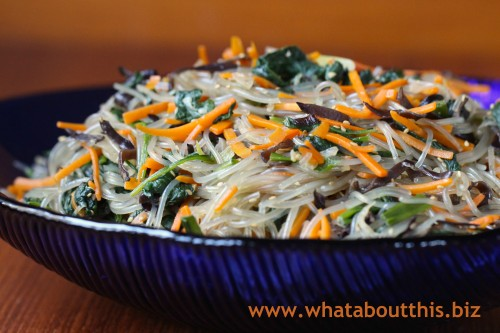 Jap Chae: Korean Glass Noodles
