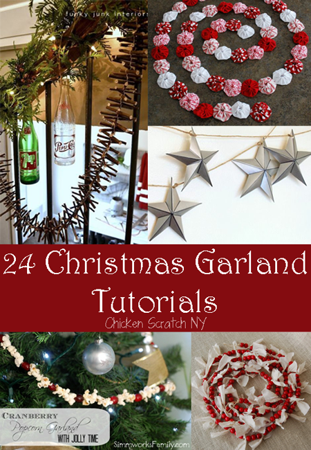 24 Christmas Garland Tutorials