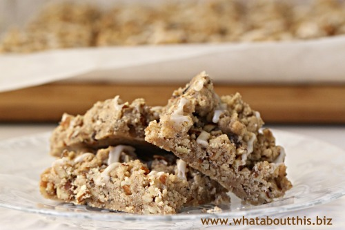 Maple-Pecan Streusel Bars