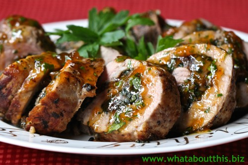 Spinach and Apricot-Stuffed Pork Tenderloin