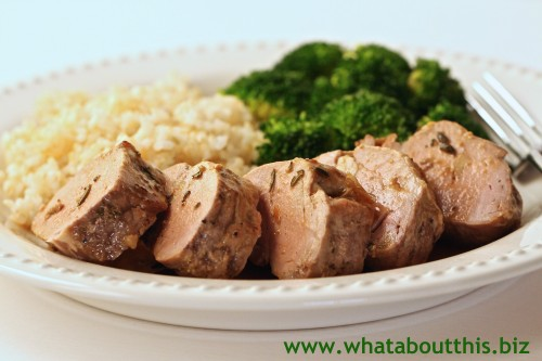 Orange and Rosemary Pork Tenderloin