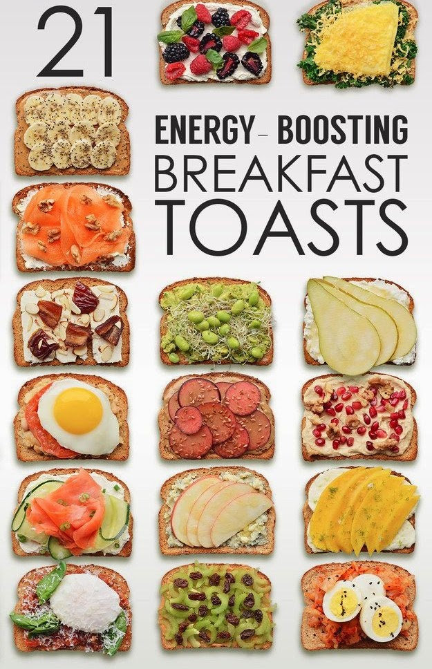 Energy boosting toast recipe