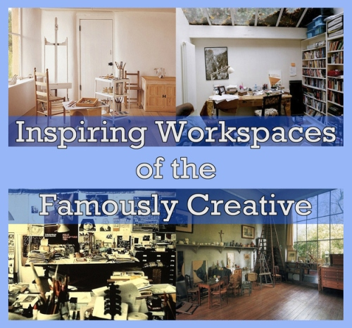 Inspiring Workspaces of the Famously Creative