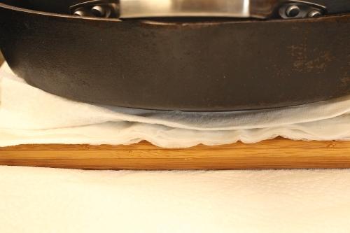 Pressing tofu