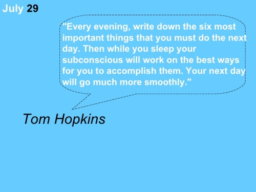 Tom Hopkins: Six Things