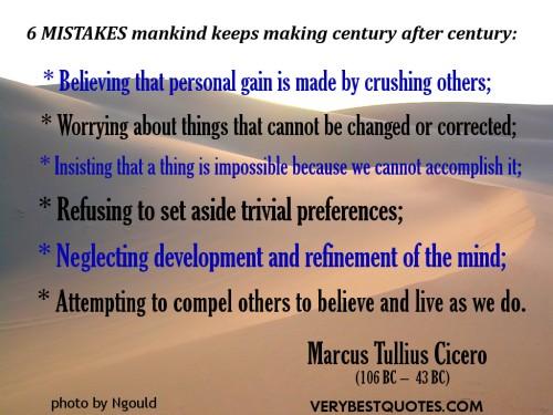 Marcus Tullius Cicero: Six Things
