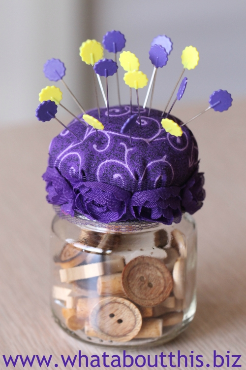 DIY Pincushion: Repurposing Jars